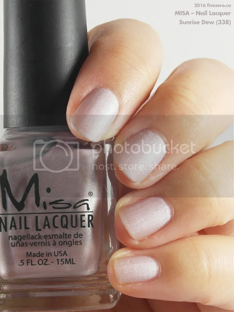 Misa Nail Lacquer in Sunrise Dew, swatch