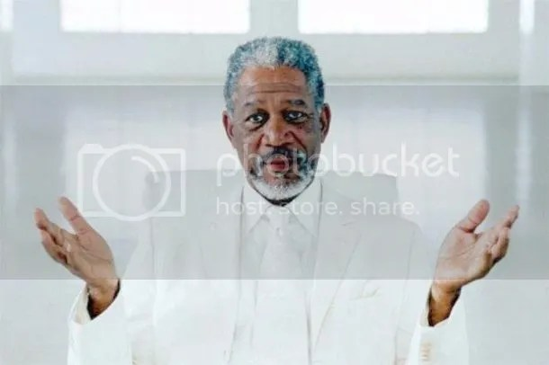 Morgan Freeman as God in Bruce Almighty