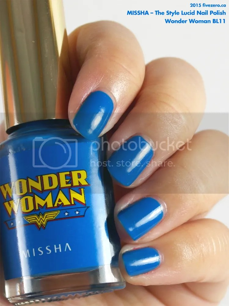 Missha The Style Lucid Nail Polish in Wonder Woman BL11, swatch