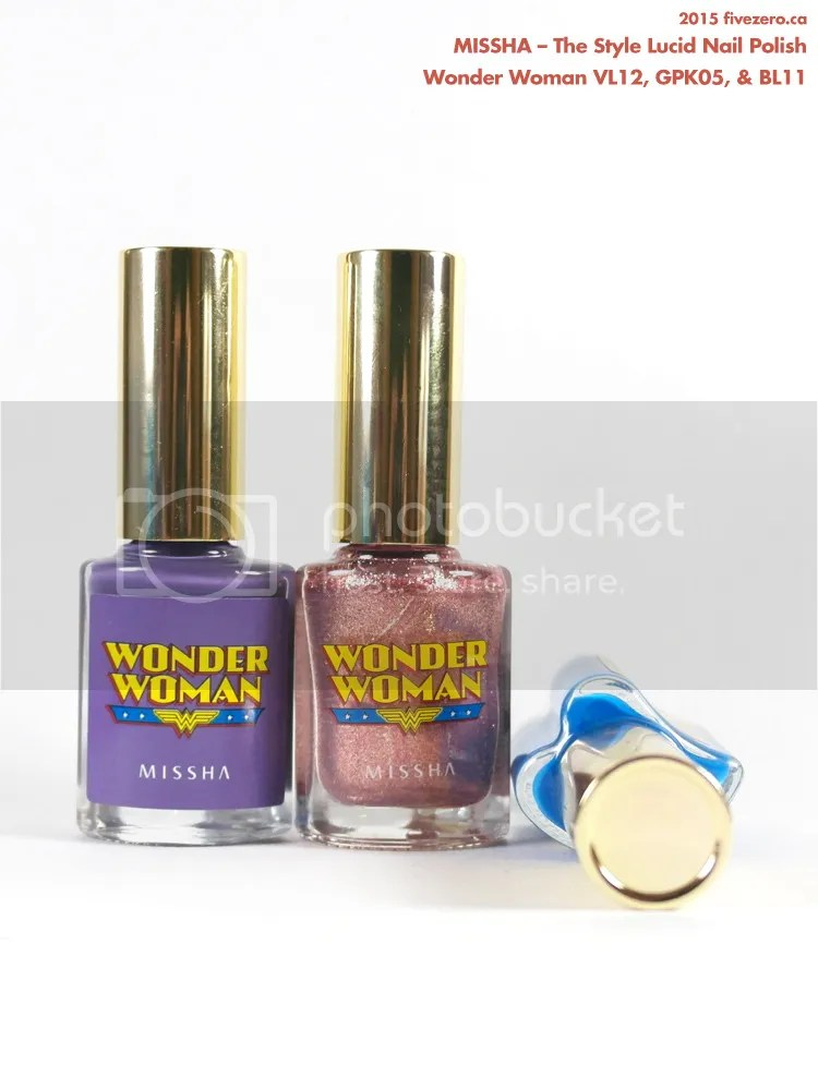 Missha The Style Lucid Nail Polish haul, Wonder Woman collection 2015