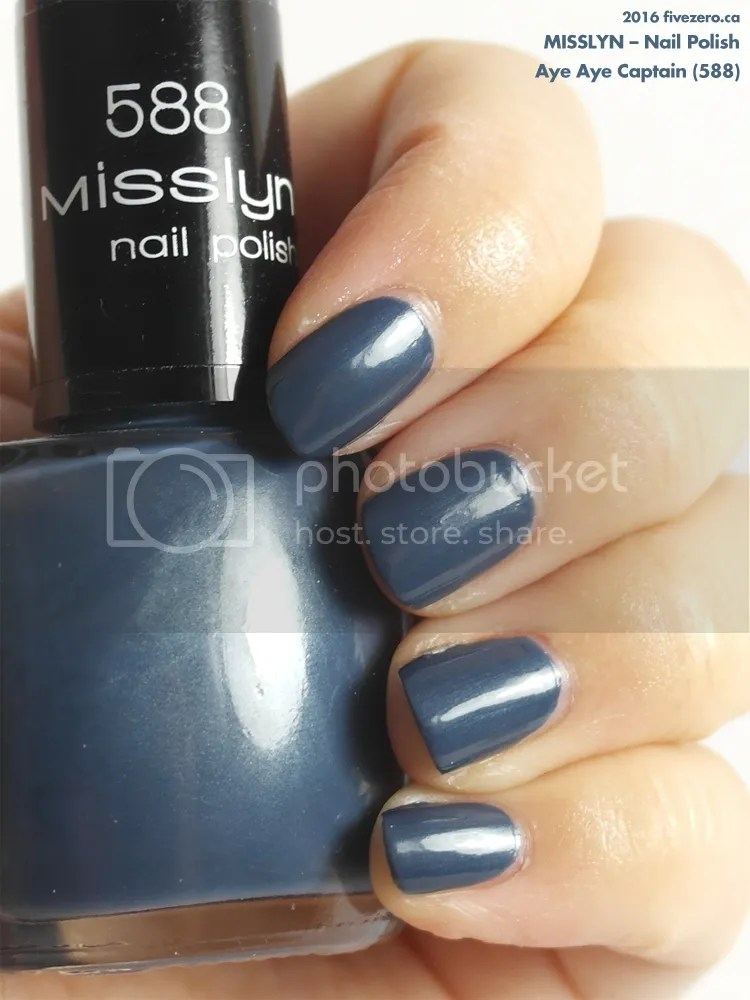 Misslyn Nail Polish in Aye Aye Captain, swatch
