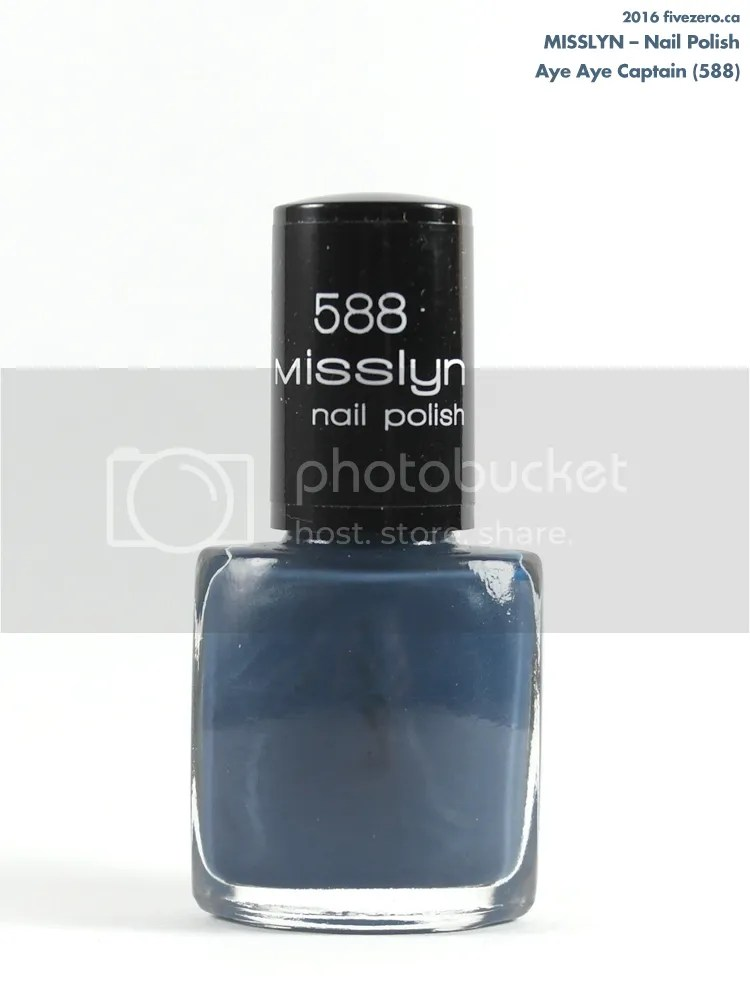 Misslyn Nail Polish in Aye Aye Captain, bottle