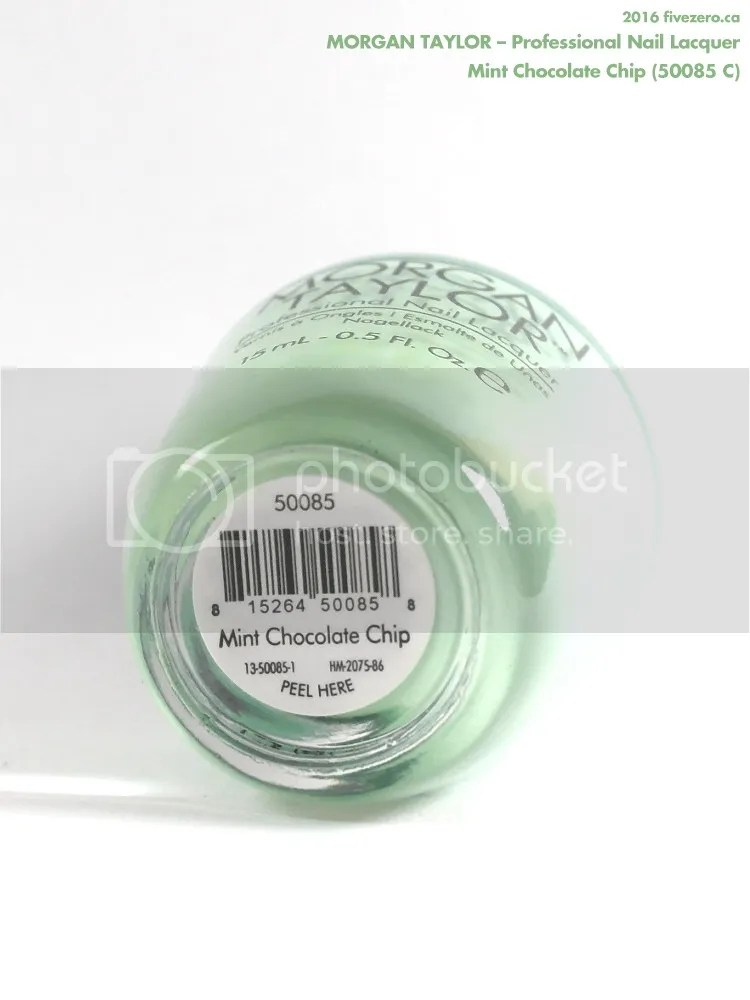 Morgan Taylor Professional Nail Lacquer in Mint Chocolate Chip, label