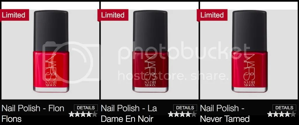 NARS Sarah Moon collection Nail Polishes, Holiday 2016