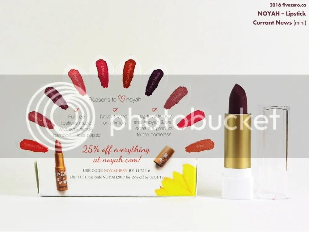 Noyah Lipstick in Currant News