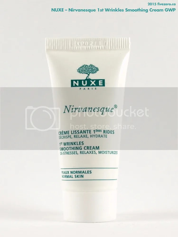 Nuxe Nirvanesque 1st Wrinkles Smoothing Cream GWP, June 2015