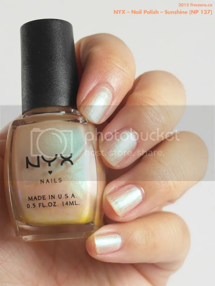 NYX Nail Polish in Sunshine, swatch