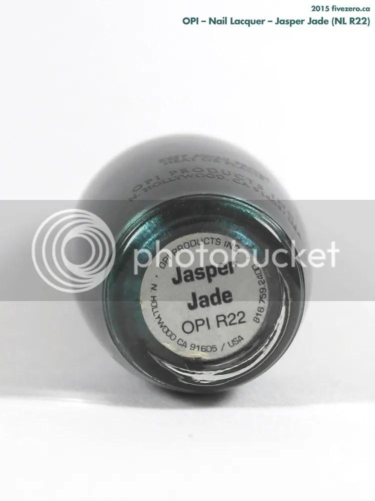 OPI Nail Lacquer in Jasper Jade, label
