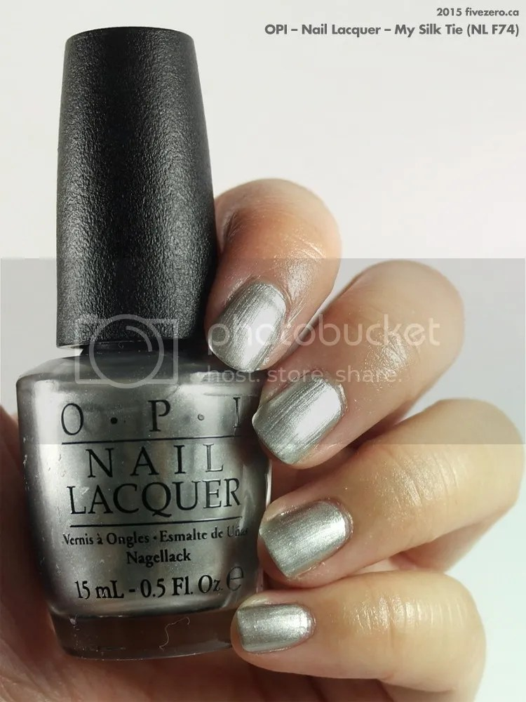 OPI Nail Lacquer in My Silk Tie, swatch