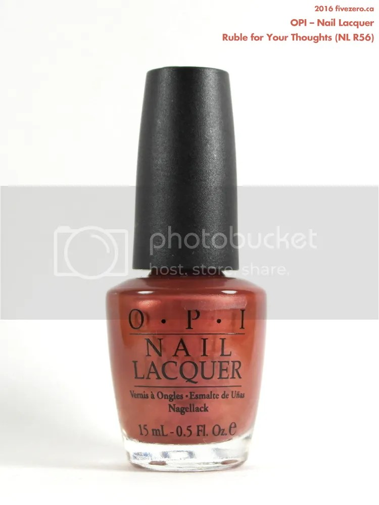 OPI Nail Lacquer in Ruble for Your Thoughts, Winners price tag