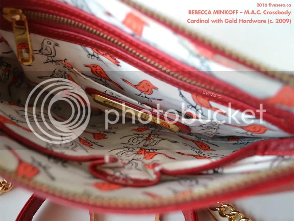 Rebecca Minkoff M.A.C. Crossbody Handbag, Cardinal with gold hardware, lining with Becky bird, 2009