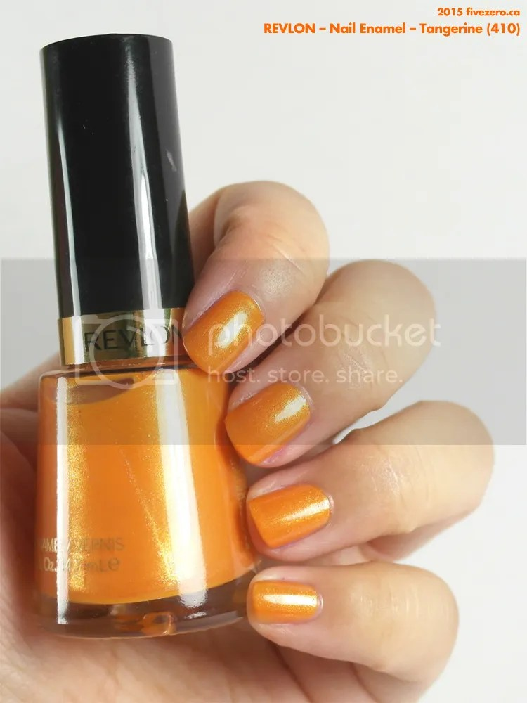 Revlon Nail Enamel in Tangerine, swatch