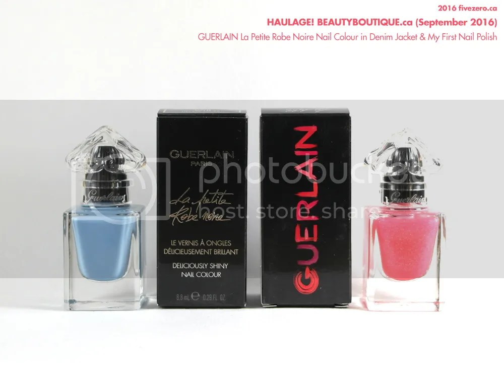 Guerlain La Petite Robe Noire Deliciously Shiny Nail Colour in Denim Jacket (008) & My First Nail Polish (001)