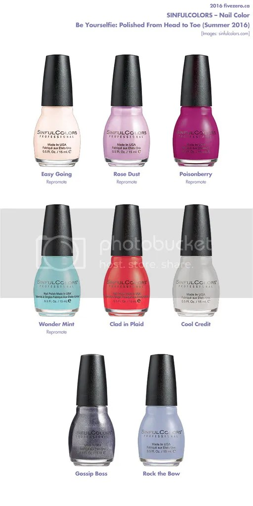 SinfulColors Summer 2016 collection Be Yourselfie: Stand Down to Stand Out!