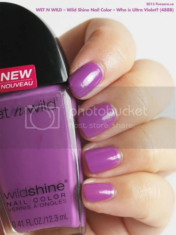 Wet n Wild Wild Shine Nail Color (2015) in Who is Ultra Violet?, swatch