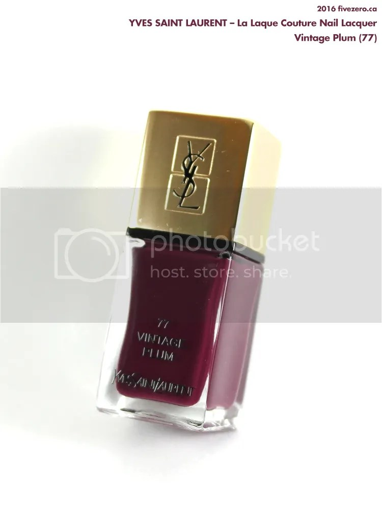 Yves Saint Laurent La Laque Couture Nail Lacquer in Vintage Plum
