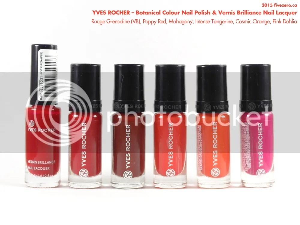 Yves Rocher Botanical Colour Nail Polish & Vernis Brilliance Nail Lacquer
