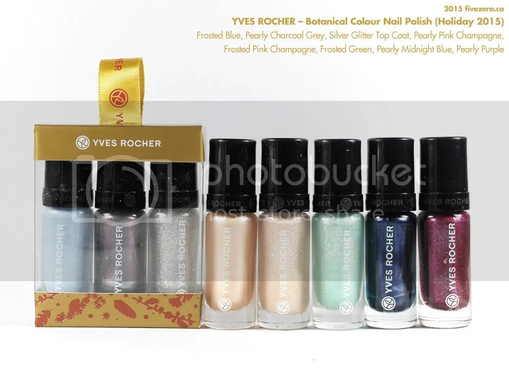 Yves Rocher Botanical Colour Nail Polish, Holiday 2015 collection