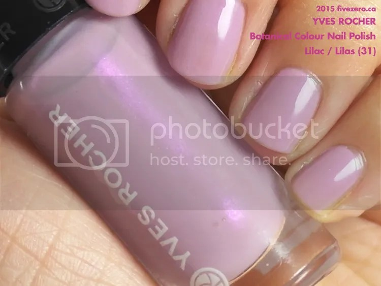 Yves Rocher Botanical Colour Nail Polish in Lilac / Lilas, swatch closeup