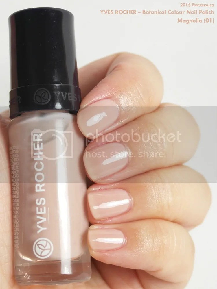 Yves Rocher Botanical Colour Nail Polish in Magnolia, swatch