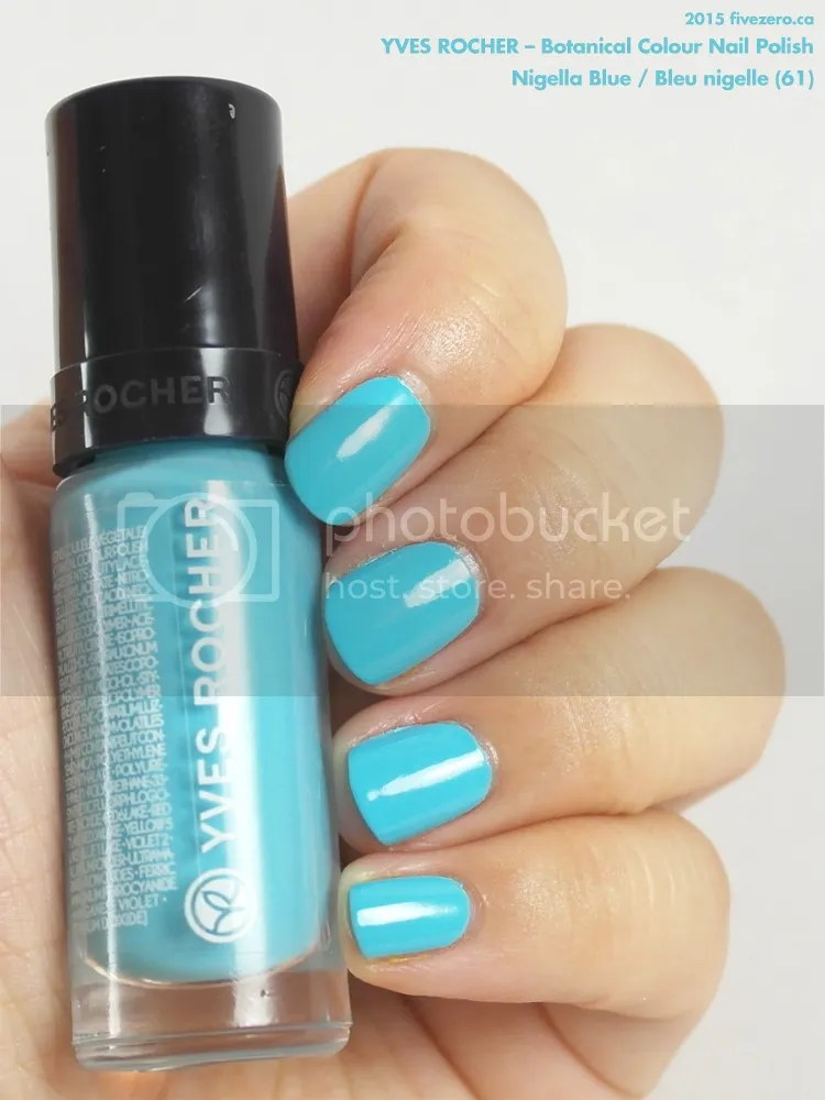 Yves Rocher Botanical Colour Nail Polish in Nigella Blue / Bleu nigelle, swatch