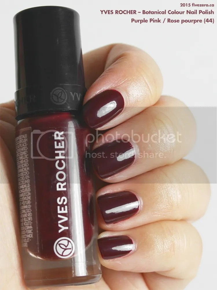 Yves Rocher Botanical Colour Nail Polish in Purple Pink / Rose pourpre, swatch