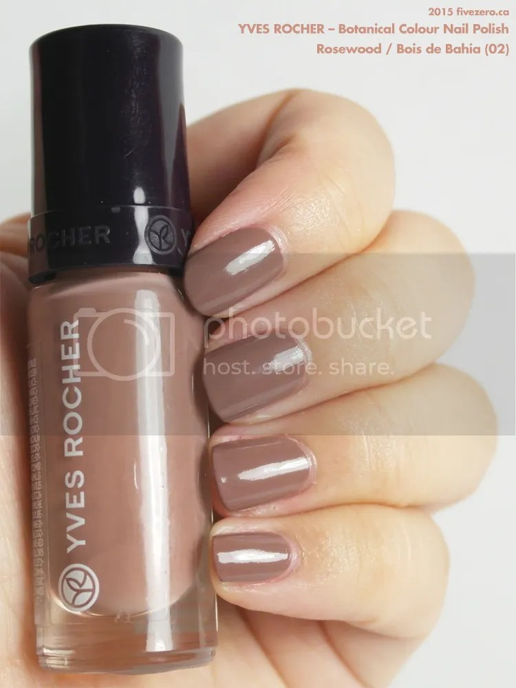 Yves Rocher Botanical Colour Nail Polish in Rosewood / Bois de Bahia, swatch