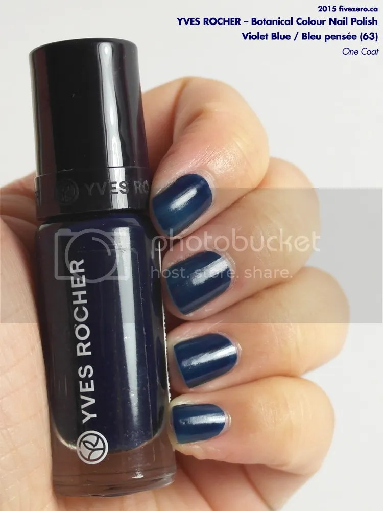Yves Rocher Botanical Colour Nail Polish in Violet Blue, swatch of one coat