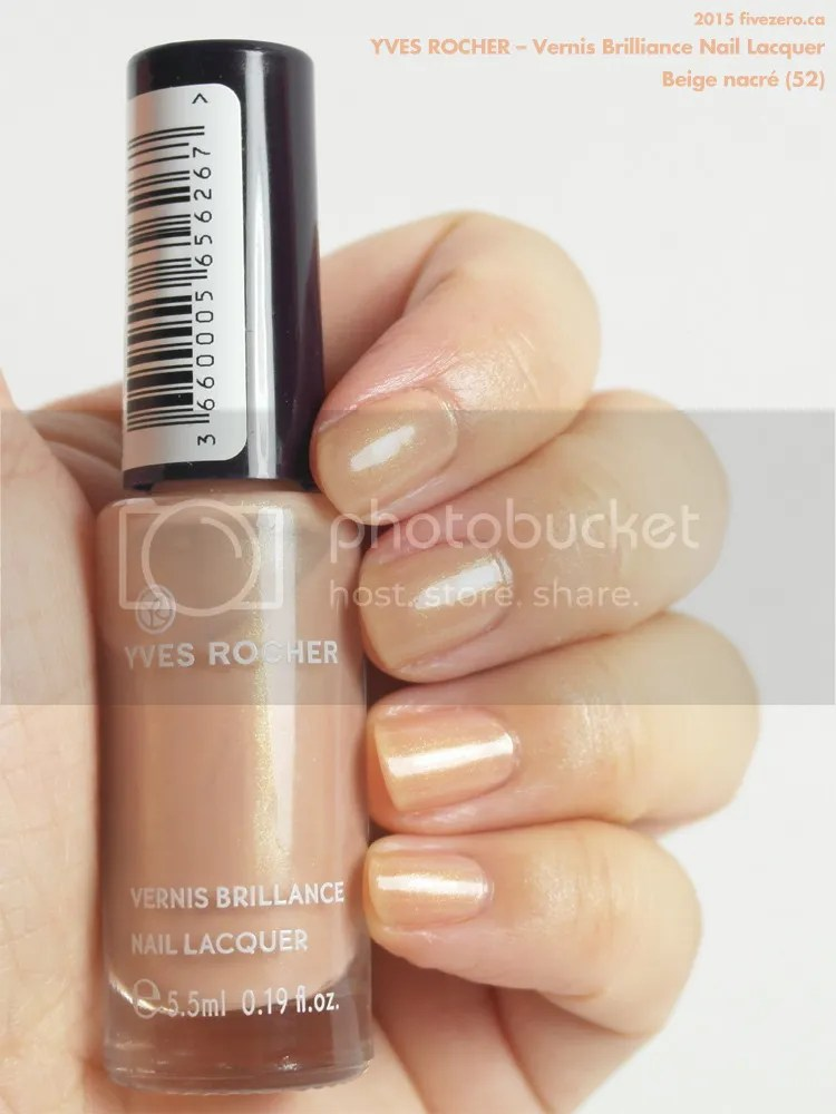 Yves Rocher Vernis Brilliance Nail Lacquer in Beige nacré, swatch