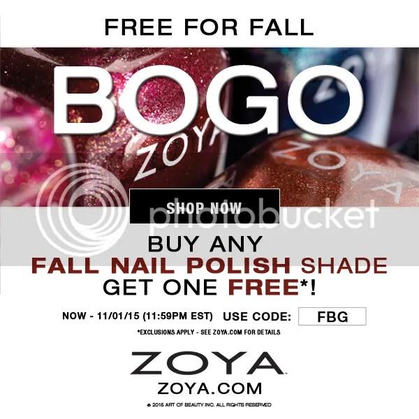 Zoya BOGO Sale, October 2015