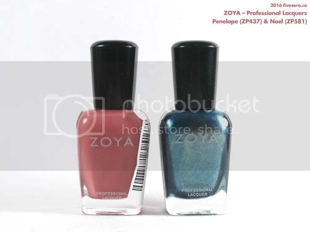 Discontinued Zoya Professional Lacquers in Penelope & Noel