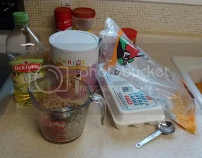 Food Storage Eggs, Sausage, and Cheese