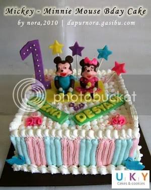 Mickey minnie mouse cake bandung