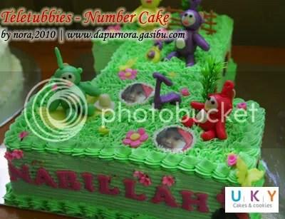 number cake bandung