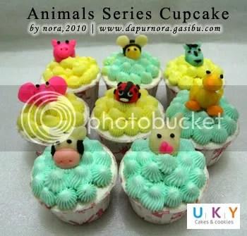 animals cupcake