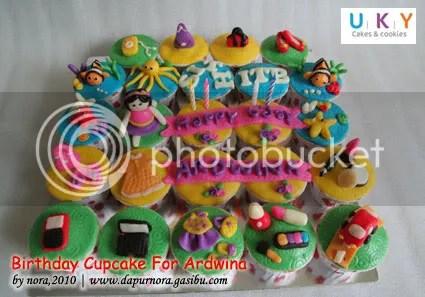 birthday cupcake coklat modeling