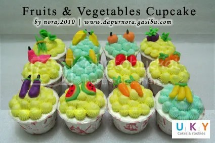 fruit vegetable cupcake
