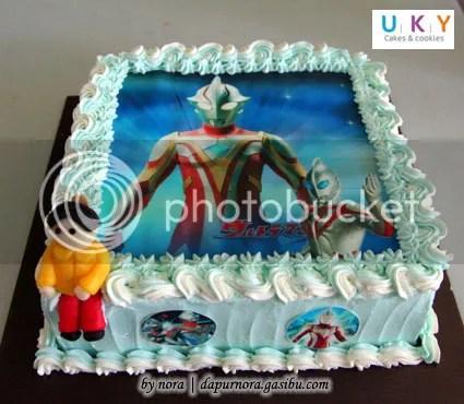 edible image cake ultraman bandung