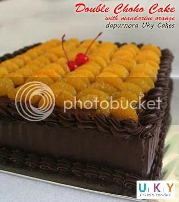 double choco cake bandung