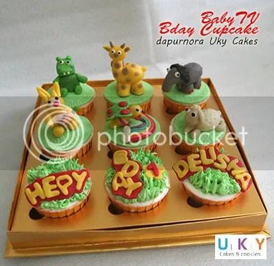 cupcake ulang tahun baby TV bandung