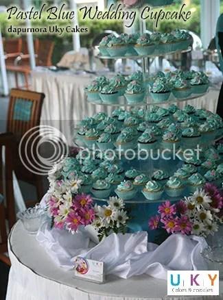 Wedding cupcake biru bandung