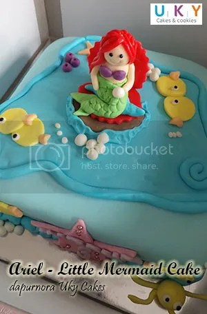 kue ulang tahun ariel little mermaid bandung