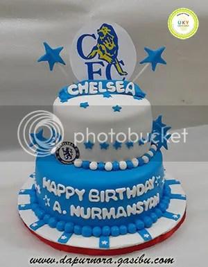 Chelsea FC birthday cake bandung