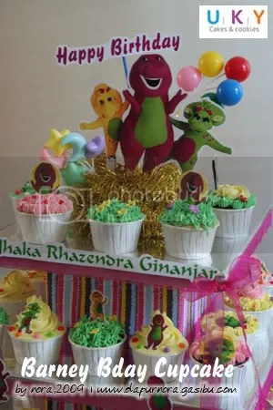 cupcake barney, kue ulang tahun barney, bandung