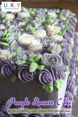 purple bday cake