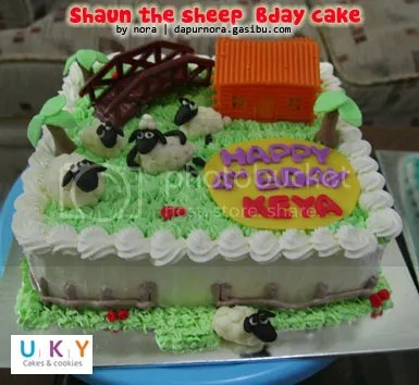 Birthday cake shaun the sheep bandung