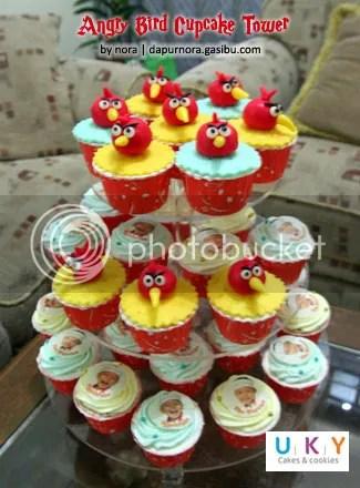 Angry Bird Cupcake Tower Bandung