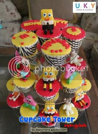 cupcake tower spongebob bandung