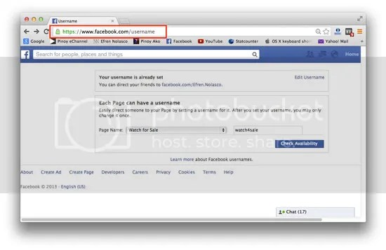 How to personalize Facebook URL
