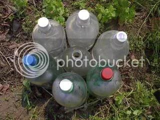 Plastic Bottles Solar Water Heater